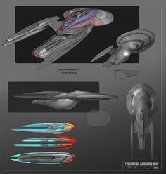 Command Ship - Star Trek, Hector Ortiz on ArtStation at https://www.artstation.com/artwork/d08aW