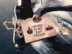 """Style with Mind necklace """"Music is my boyfriend"""". www.magne.ie"""