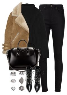 """""""Untitled #4100"""" by london-wanderlust ❤ liked on Polyvore featuring Yves Saint Laurent, Rick Owens, Acne Studios, Givenchy and Topshop"""
