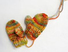 Or some wee mittens. | 34 Adorable Things To Do With Leftover Bits Of Yarn