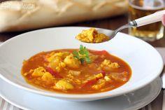 Arroz caldoso de pollo con especias en Thermomix TM5. Un arroz caldoso con sabor intenso a especias, con ricos trocitos de pollo. Una receta sencilla y muy económica para disfrutar de un arroz caldoso cualquier día. Pasta Thermomix, Thai Red Curry, Squash, Ethnic Recipes, Food, Gastronomia, Gourmet, Fast Recipes, One Pot Dinners