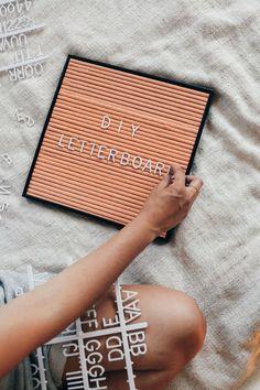 DIY: letter board