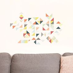 Reusable Fabric Wall Stickers - Geometric. DIY in terms of how/in what deisgn you apply them