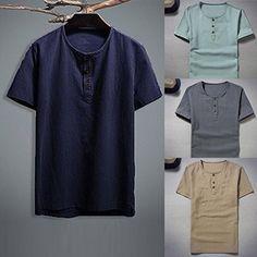 342a629809bee FYI  Vacances D Été! Malloom Personnalité Hommes O Cou T-Shirt Top