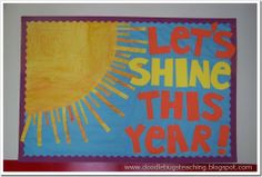 RA bulletin board idea - maybe make the sun rays rip-able and put study or involvement tips on each ray so residents can rip them off.                                                                                                                                                      More