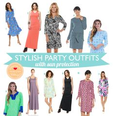Stylish Summer Party Dresses with Sun Protection. Stylish Summer Party Dresses with Sun Protection. Outdoor Party Outfits, Tea Party Outfits, Party Dresses, Novelty Gifts For Men, Summer Wraps, Casual Summer Dresses, Sun Protection, Dress Outfits, Stylish