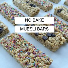 No bake muesli bars for school lunch box recipes and ideas for the Oh So Busy Mum