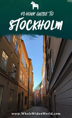 48 hour travel guide to Stockholm | #stockholm #sweden #48hours #48hourguide #travelguide #travelblog #wholewidenworld