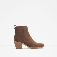 Image 1 of LEATHER WESTERN BOOTIES from Zara
