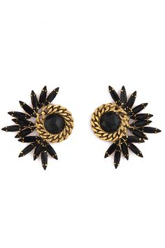 Elizabeth Cole Burst and Chain Earrings