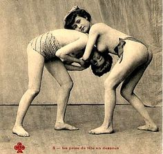 Postcard. Female Single Combat Club