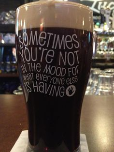 craft beer funny glass