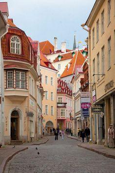 Streets of the old town, Tallinn / Estonia (by Elena Stambulyan).