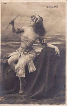Belle Epoque Exotic Lady As Salome...pre1905