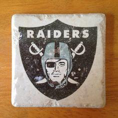 Oakland Raiders  coasters $18 on Etsy