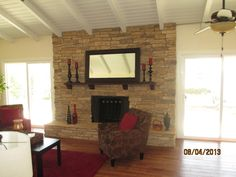 1431 Sunnycrest Dr Fullerton, CA 92835 Fireplace in family room.