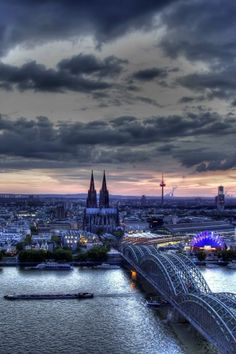 Hohenzollern Bridge, Cologne, Germany.
