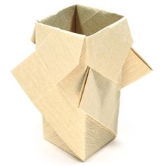 rectangular origami vase