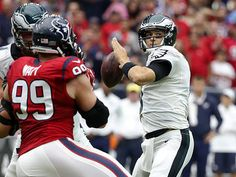 Eagles quarterback Mark Sanchez. (Tony Gutierrez/AP)