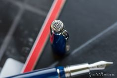 Love the details on this Montegrappa Passione fountain pen in Mediterranean Blue.
