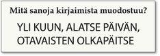 Kalevalan päivä #Kalevala #sanavisailu #pähkinä #sanansaalistus #Lönnrot #aivojumppa #aivotreeni Math Equations