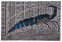 Kaiyar - Alick Tipoti - Hand coloured Linocut - AT048 - Aboriginal and Torres Strait Islander Art Prints