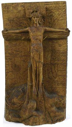 František Bílek: Ukřižovaný Rodin, Art Nouveau, Villa, Museum, Sculpture, Fine Art, Sculptures, Sculpting, Visual Arts
