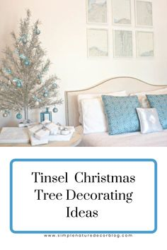 I love tinsel Christmas trees. Add one in your home for a charming holiday touch. #tinseltree #Christmastree #holidaytree