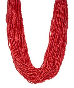 Another great find on #zulily! Coral Seed Bead 65-Strand Necklace #zulilyfinds