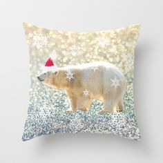 Polar Holiday Throw Pillow by Lisa Argyropoulos - $20.00