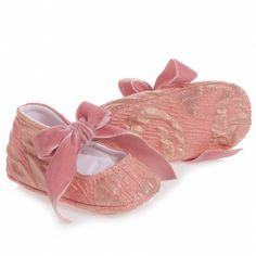 I Pinco Pallino Baby Girls Pink Brocade Pre-Walker Shoes at Childrensalon.com