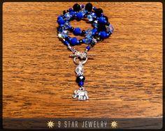 Baha'i Prayer Beads Necklace - Crystal Ocean -  5 x19 (Allah-u-Abha) by 9StarJewelry #bahai #bahaijewellery #bahaijewelry #bahais #9starjewelry