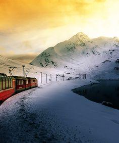 Bernina Express. Graubünden/Grisons. Switzerland.