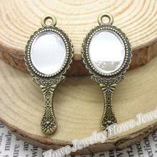20 pcs Vintage Charms Mirror Pendant Antique bronze Fit Bracelets Necklace DIY Metal Jewelry Making(China (Mainland))
