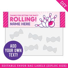 Paper goods and DIY printables for parties and holidays Pennant Banners, Name Banners, Party Shop, Diy Party, Party Treats, Party Favors, Felt Name Banner, Bowling Party, Happy Birthday Name