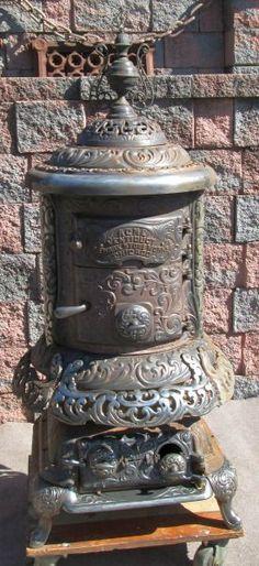 Charter Oak Victorian Parlor Stove Wood Coal Heater Cast