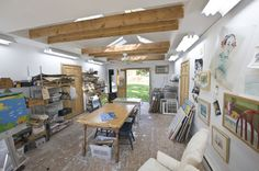 Artist Studio - eclectic - garage and shed - philadelphia - by Pine Street Carpenters & The Kitchen Studio