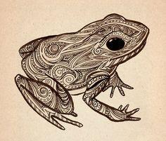 Frog Print by JamieMcElroy on Etsy, $5.00