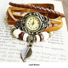 Women's Boho-Chic Vintage-Inspired Handmade Watch - 11 Styles Available - $10.00