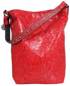 e8045084ae05 Red Floral Small Tote by Double J Saddlery Me Bag