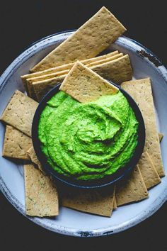 This protein packed, vegan, super green edamame hummus on Healthy Seasonal Recipes is bursting with nutrients and makes a great kid friendly snack.