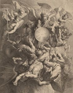 scribe4haxan:  The Fall of the Rebel Angels, 1621 ~ by Lucas Emil Vorsterman after Sir Peter Paul Rubens…
