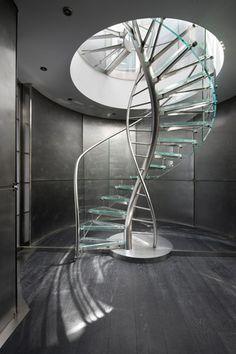 DNA | Floating | Helical Stairs Glass TWE-707-EeStairs-Geoffrey Packer