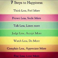 7 pasos de la felicidad