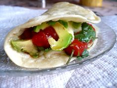 I am always looking for new recipes for tortillas.  But the filling looks so delicious!