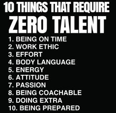 10 things that require zero talent //