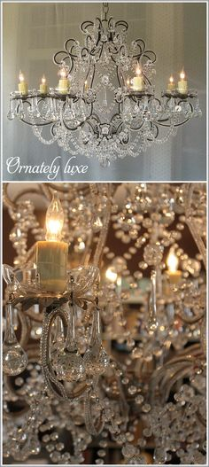 The new look of crystal chandeliers - ornately luxe
