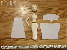 Elsa Fondant Figurine Tutorial #1