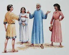 Jakob elsker Rakel, men faren hennes Laban, lurer han til å gifte seg med hennes storesøster Lea først. Så må Jakob jobbe i sju år til for Laban, for å få gifte seg med Rakel også
