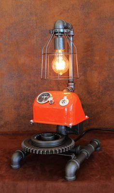 Steampunk Lamp Antique Allis-Chalmers Farm - CC15